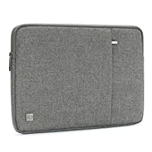 "DOMISO 17 Inch Water-Resistant Laptop Sleeve Notebook Carrying Case Bag for 17.3"" Computers / Lenovo / Acer / ASUS / HP / Dell / Toshiba, Grey"