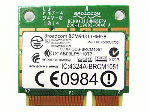 BroadCom BCM94313HMGB BCM4313 Half Mini PCIe BT Bluetooth WLAN WIFI Wireless Card for HP Laptop 598711-001 600370-001 657308-001 ()