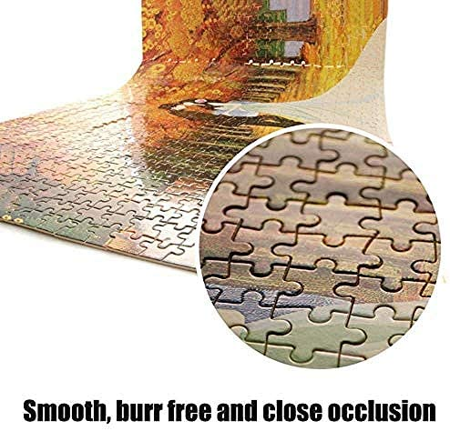 Jiedoud Puzzle in Legno Puzzle S 1000 Pezzi per Adulti Coltivati Set di Giochi per Cartone per Famiglie S Giochi Educativi - Mulino sotto Grey Sky