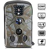 Bestok Trail Camera Hunting Camera Wildlife Game Camera 12MP Deer Camera Night Vision 120 Full HD 2.4 LCD Screen PIR 65 ft/20m Waterproof IP65 for Wildlife Hunting Monitoring