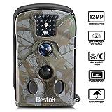 Bestok Trail Hunting Camera Wildlife Deer Game Cam12MP Night Vision 120 Full HD 2.4 LCD Screen PIR 65 ft/20m Waterproof IP65 for Wildlife Hunting Monitoring Indoor and Outdoor Activities (5220)