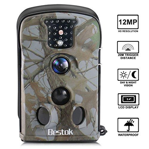 Bestok Trail Hunting Camera Wildlife Deer Game Cam12MP Night