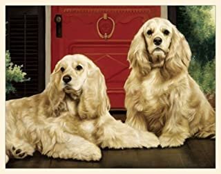 product image for Fiddler's Elbow Two Cocker Spaniel's on the Porch Blank Box Note Cards