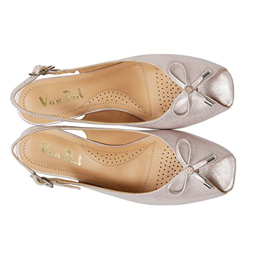 Off Women's Metallic Van white Dal Sandals Bamboo Back Sling Oxley wYF5RxqFA