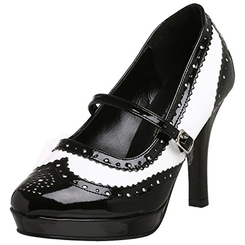 Funtasma CONTESSA-06 womens Black-White Patent Pumps Shoes Size - 8 -
