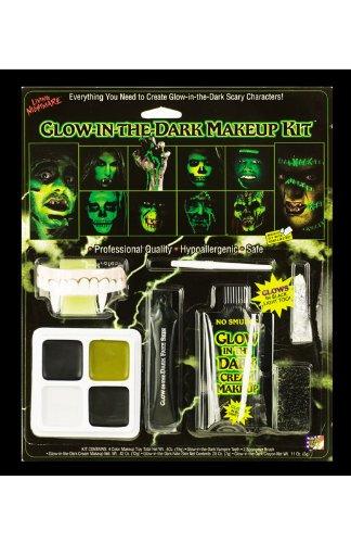 Fun World Unisex-Adult's Glow in The Dark Makeup Kit, Multi, Standard -