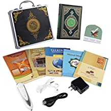 Hitopin Digital Holy Quran Pen Exclusive Metal Box Word-by-Word Function for Kid and Arabic Learner Downloading Many Reciters and Languages Digital Qu'ran Pen 5 Small BooksHP-FQ15