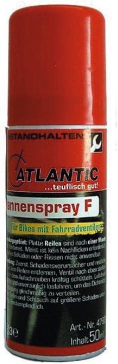 Atlantic Fahrrad Flickzeug Pannenspray Ausführung M 75 Ml Für Autoventil Sport Freizeit
