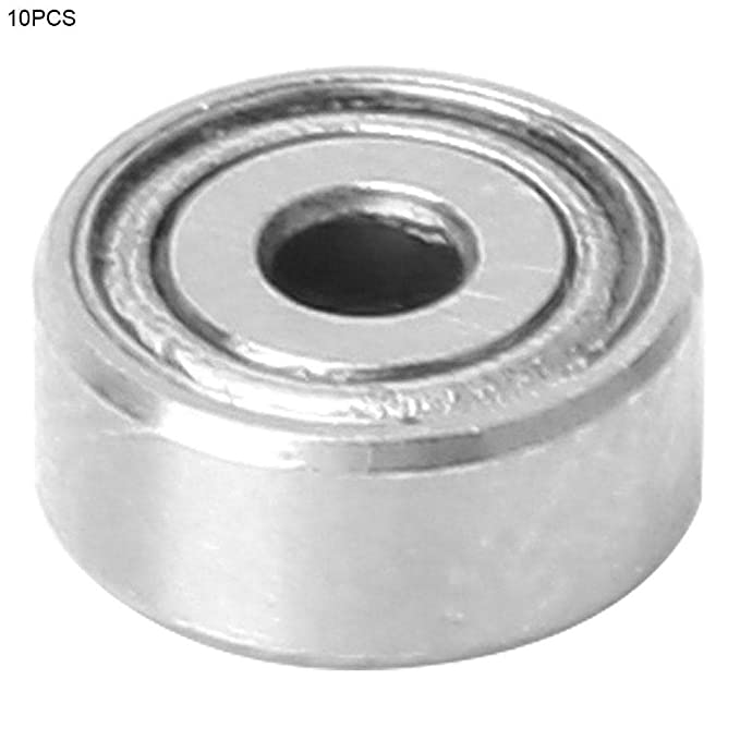 Ball Bearing 10pcs Universal Double Shielded High Speed Deep-Groove Metal Steel Ball Bearings Set 602-ZZ