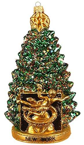 Pinnacle Peak Trading Company New York City Rockefeller Center Christmas Tree Polish Glass Ornament Decoration -