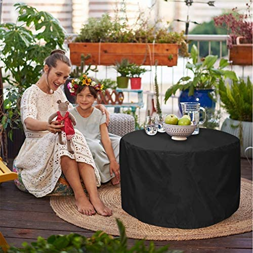 EPCOVER Patio Deck Box Cover,Round Outdoor Storage Table Cover,to Protect Deck Boxes /& Round Outdoor Storage Table 28 Dia x 18 H