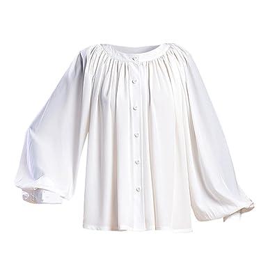 f847aec308eae8 COUCOU Age Vintage Shirt Victorian Chiffon Ruffle Long Sleeves Women Girls  Plus Size