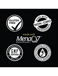 100 Microgramos de la vitamina K2 (como MK7) con aceite de coco orgánico para una mejor...
