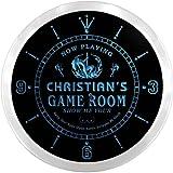 ncx0235-tm Christian's Sexy Game Room Bar Custom Name Neon Sign Clock