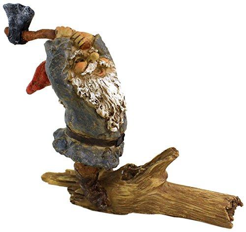 Top Collection Miniature Fairy Garden and Terrarium Garden Gnome Chopping Wood