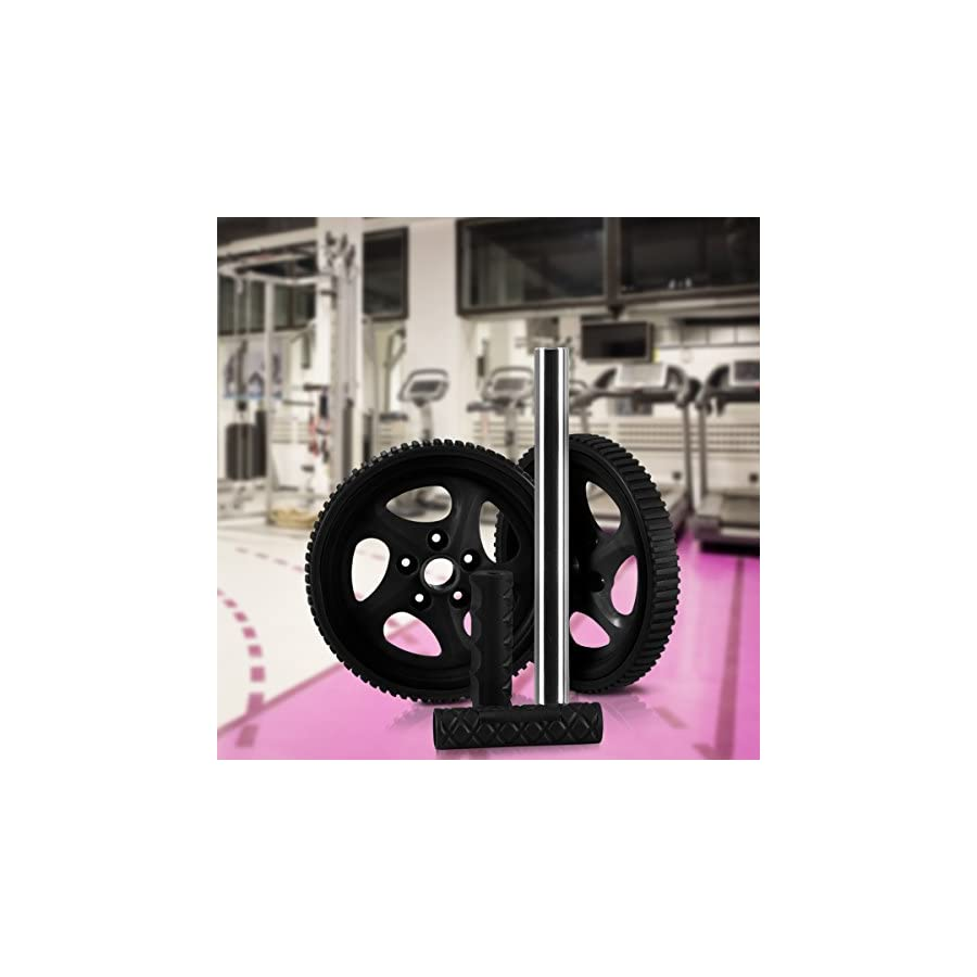 Ab Wheel & Roller Core & Abdominal Trainer Portable and Double Wheel Carver for Strengthening & Shaping Arms, Abs, Shoulders, Back by Utopia Fitness