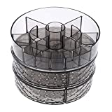 Best Fishes Various sizes Lipsticks - Flameer 360-Degree DETACHABLE Rotating Makeup Organizer Case Carousel Review