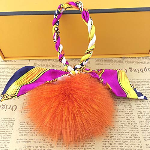 Amazon.com: Rarido Luxury 10cm Fluffy Pom pom Fox Fur Ball ...