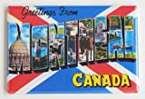 Greetings From Montreal Fridge Magnet (2 x 3 inches)
