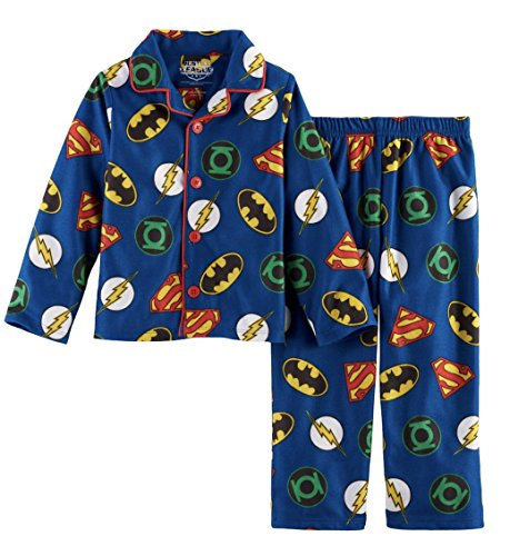(Justice League America Superhero Pajama Set (Navy, 3T))