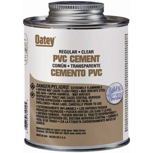 Oatey 31015 PVC Regular Cement, Clear, 32-Ounce