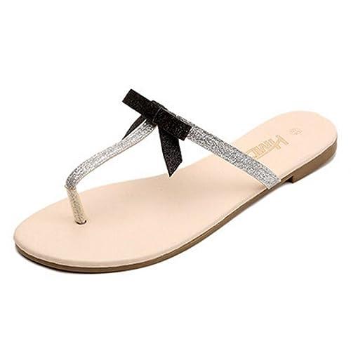 Ouneed® Damen Sandalen ,Damen Sommer Blume Womens Fisch Mund Plastic Flache Sandalen Casual Jelly Beach Schuhe (40, Schwarz)