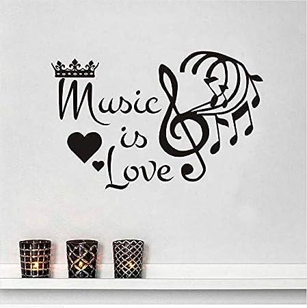 ZYL123 Música Extraíble Es Amor Corona Notas Musicales Etiqueta De ...