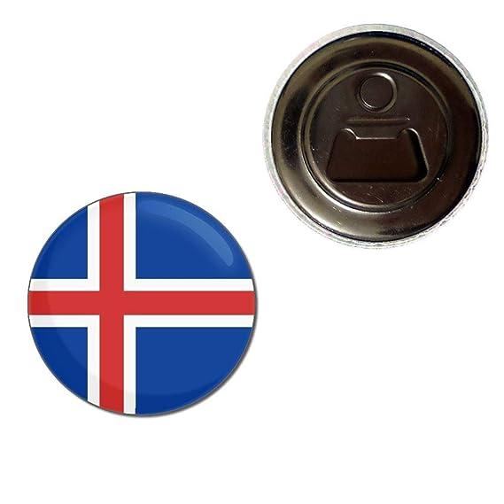 55mm Fridge Magnet Bottle Opener BadgeBeast Iceland Flag