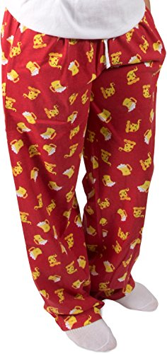 Late Night Snacks Pizza and Beer Unisex Pajama Pants With Pockets - Large by Late Night Snacks (Image #7)