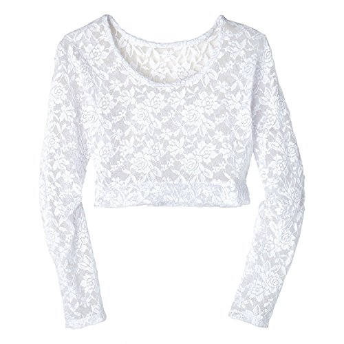 Women's Lacey Long Sleeve Layering Top - White - Large, used for sale  Delivered anywhere in USA