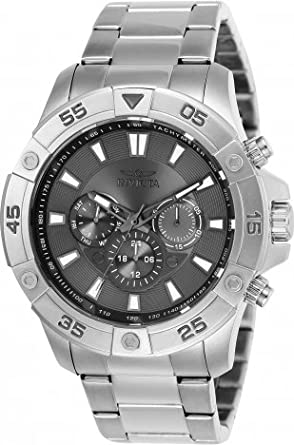 Invicta Mens 47mm Pro Diver Ocean Cruiser Quartz Multi Function Gray Dial Watch