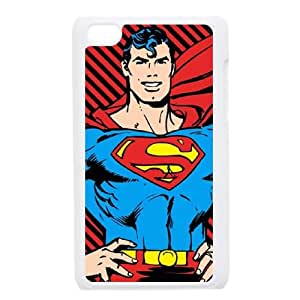 Red And Black Striped Superman iPod Touch 4 Case White DIY Present pjz003_6628005
