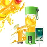 5 star juice extractor - A-SZCXTOP Portable Blender Personal Juicer Cup with USB Charging Cable Smoothie Maker Fruit Mixer for Travel Gym Picnic Home or Office 380ML