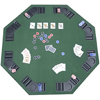 Amazon versa games 48 octagon poker table w folding legs deluxe foldable poker blackjack card game table top w carrying bag watchthetrailerfo