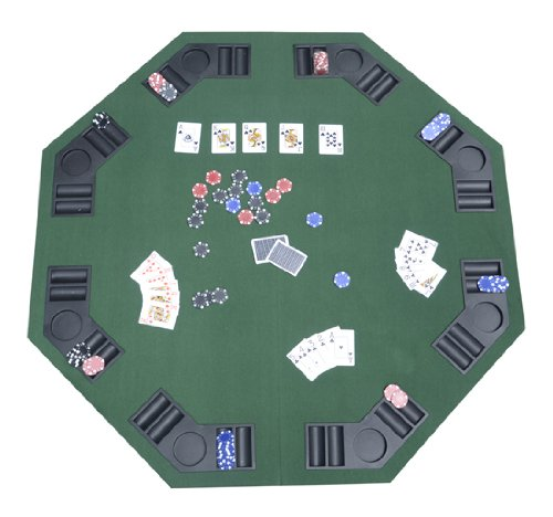 Deluxe Foldable Poker / Blackjack Card Game Table Top w/ Carrying (Poker Table Top)