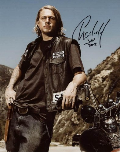 Charlie Hunnam Sexy Reprint Signed Photo  1 Sons Of Anarchy