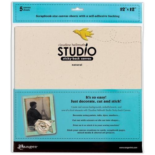 Claudine Hellmuth Studio Sticky Back Canvas, Natural, 5/pkg ()