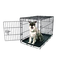 Carlson Pet Products Compact and Secure Single Door Metal Dog Crate, Medium