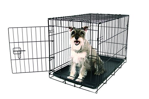 - Carlson Pet Products Secure and Foldable Single Door Metal Dog Crate, Medium