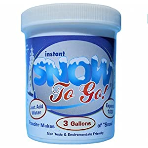 Fake Expanding Snow Prime Artificial Snow Polymer Powder Jar for Seasonal and Weddings Decoration Snow Science Kit Makes 3 gallons of Fluffy Faux Snow 39