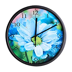 Luckly candy - Black Wall Clock, Silent Non Ticking Quality Quartz Battery Operated 12 Inch Round Easy to Read Home/Office/School Clock