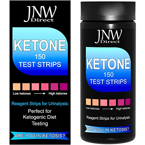 JNW Direct Ketone Test Strips, 150 Urinalysis Keto Test Strips for Testing Body Urine Ketosis Levels, Perfect Kit for…