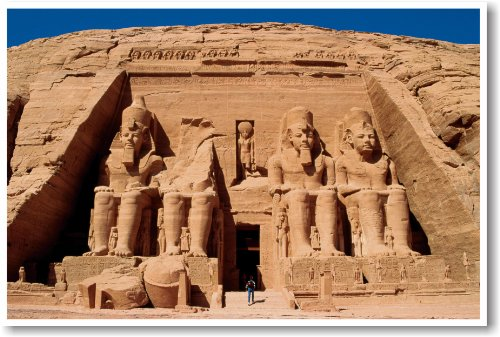 Ancient Egypt - Abu Simbel - NEW World Travel Poster