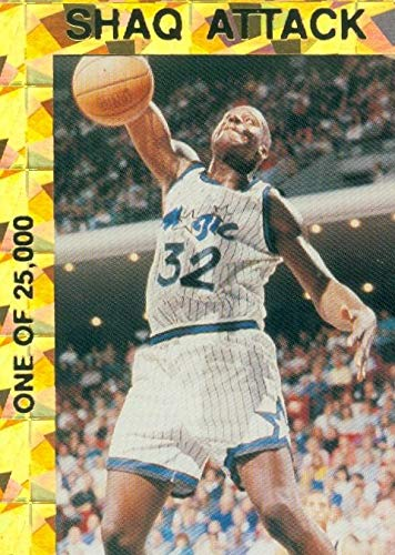 4d419e0bcc5 Image Unavailable. Image not available for. Color  Shaquille O Neal  basketball card (Orlando Magic) 1993 Shaq Attack Gold Recfractor All