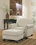 Ashley Furniture Signature Design - Milari Ottoman - Classic Style - Rectangular - Linen
