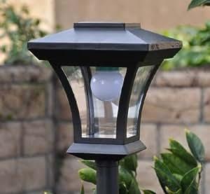 """Nuevo 67""""lámpara funciona con energía solar luz Post con brillante bombilla LED Jardín Solar ajustable"""