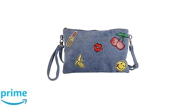 1c5ce5efb Bluebags Bandolera Jean con Emojis, Bolso Mujer, Jeans Unica: Amazon.es:  Zapatos y complementos