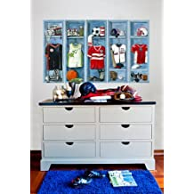 Oopsy Daisy Peel and Place Sports Lockers by Jones Segarra, 54 by 30-Inch