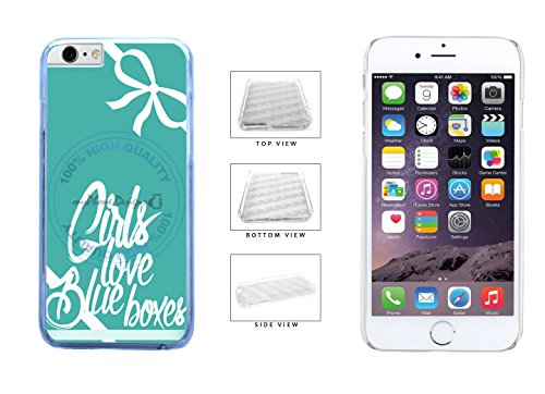 Plastic Speedy Box (Cute Teal Girls Love Blue Boxes Clear Sides Plastic Phone Case Back Cover For Apple iPhone 6 Plus (5.5 Inches Screen) comes with Security Tag and MyPhone Designs(TM) Cleaning Cloth)