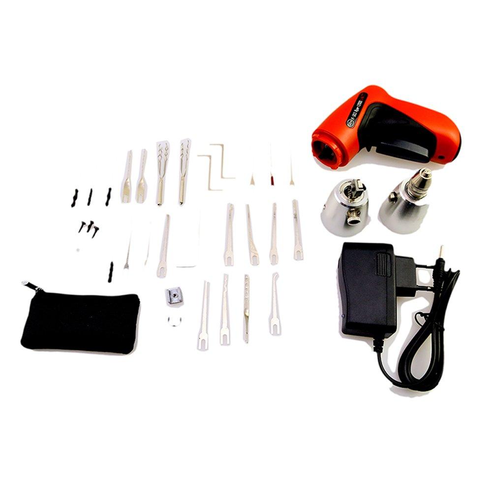 K303,/schnurloses Borisen elektrisches Schlosser-Werkzeug-Set mit Lederpolster Dietriche